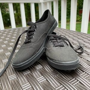 All Black Authentic Lo Pro Vans
